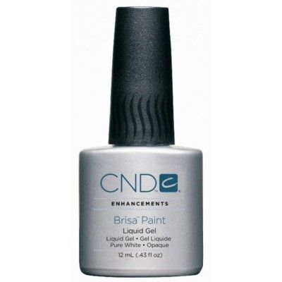 CND Brisa Paint Liquid Gel Pure White Opaque 12ml/.43oz