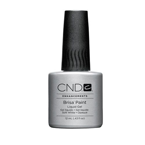 CND Brisa Paint Liquid Gel Soft White Opaque 12ml/.43oz