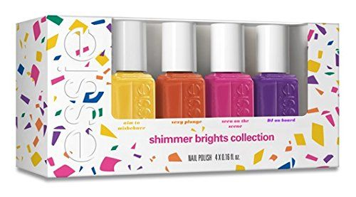 Essie Nail Polish Mini 4-paints from the aim to misbehave glimmer Brights 2016