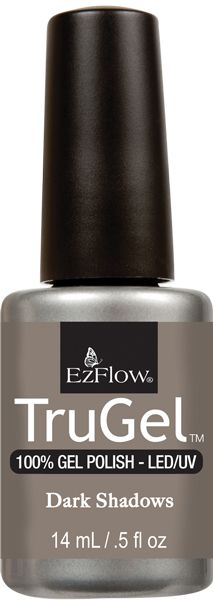 EzFlow Trugel Led/UV Gel Polish - Dark Shadows - 0.5oz/14ml