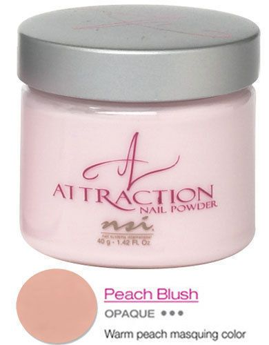 NSI Attraction Acrylic Nail Powder - PEACH BLUSH 40g