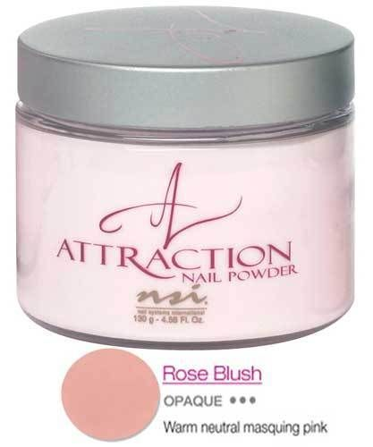 NSI Attraction Acrylic Nail Powder - ROSE BLUSH 40g
