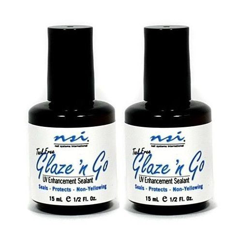 NSI Glaze' N Go UV Gel Top Coat Sealant - 2 x 15ml
